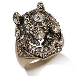 Heidi Daus Fu Dog Crystal Accented Ring