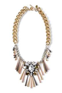 Anton Heunis  Chunky Chain Crystal Centre Piece Necklace by Anton