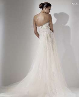 Slinky Custom made Strapless Sweetheart Wedding Dress Bridal Gown Size