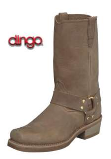 "Dingo Mens DI19058 11"" Distressed Tan Harness Motorcycle Boots 7D"