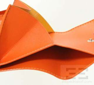 Goyard Orange Chevron Coated Canvas & Leather Small Coin Purse Wallet