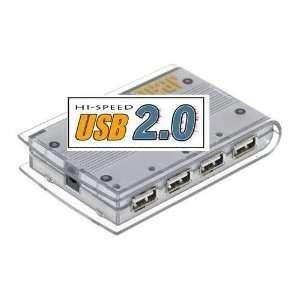 4 Port USB 2.0 Powered Slim Hub for PC or MAC USB.org