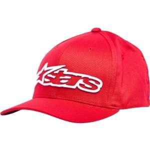 Alpinestars Blaze Mens Flexfit Race Wear Hat/Cap   Red/White / Large