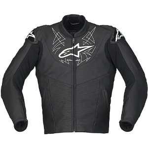 Alpinestars Vector Black Leather Motorcycle Jacket
