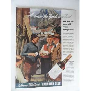 Hiram Walkers Canadian Club Whiskey. Vintage 30s full page print ad