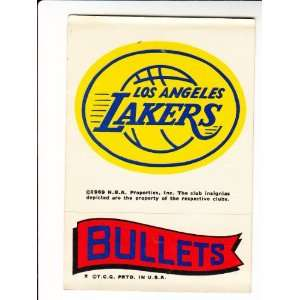 1973 74 Topps Team Stickers #25 Los Angeles Lakers/Bullets