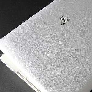 Asus Eee PC 1008HA Laptop Cover Skin [White Leather
