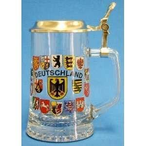 Lidded Glass Beer Mug wih German Cress  Kichen & Dining