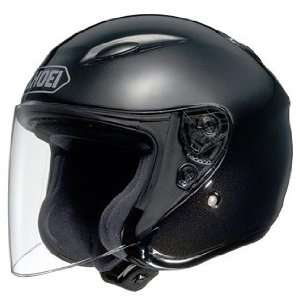 SHOEI J Wing Open Face Motorcycle Helmet, Black, Small