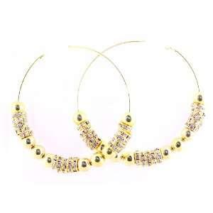 Crystal Basketball Wives Hoop summer Earrings(ex large 3) Jewelry