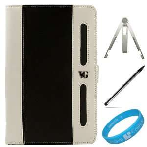 Black White Leather Carrying Case Cover with Soft