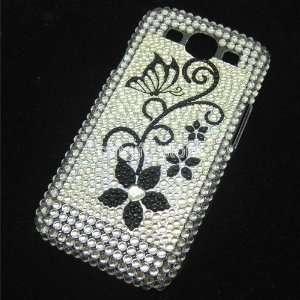 S3 I9300 I535 Flower Bling Diamond Flower Rhineston Hard Case Cover