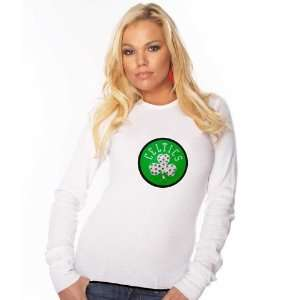 Boston Celtics Ladies White Swarovski Crystal Contrast Hem Baby