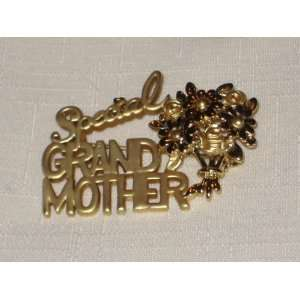Toned Special Grandmother Brooch Pin   2 x 1 Inch