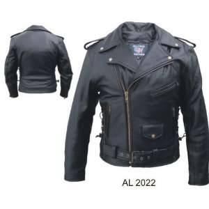 Mens black PREMIUM Buffalo Leather Motorcycle Jacket Zipout liner