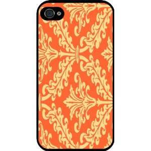 Color Damask Design Rubber Black iphone Case (with bumper) Cover