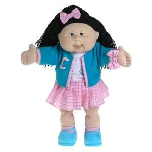 Cabbage Patch Kids 16 Doll Black Hair Girl   Blue School