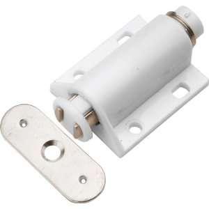 Hickory Hardware P655 W White Cabinet Door Catches