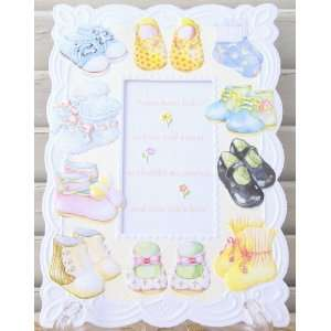Carol Wilson New Baby Card Baby Booties and Shoes