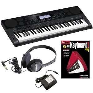 Casio CTK 7000 Keyboard BONUS PAK w/ Headphones & Lesson