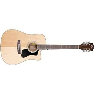 Acoustic Electric Guitar with Hardshell Case Musical Instruments