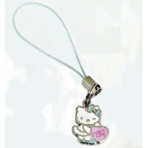 Licensed Hello Kitty Superstar Necklace Pink Heart Cell Phone Charm