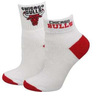 NBA Chicago Bulls Ladies White Roll Down Socks  Sports