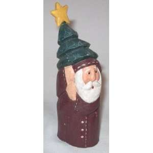 Wooden Figurine Decoration Carrying a Christmas Tree Everything Else