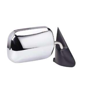 Side Mirror Manual Black And Chrome Right Door Replacement Automotive
