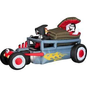 Inflatable Reaper Hot Rod with Vampire Coffin Everything Else