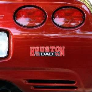 NCAA Houston Cougars Dad Car Decal