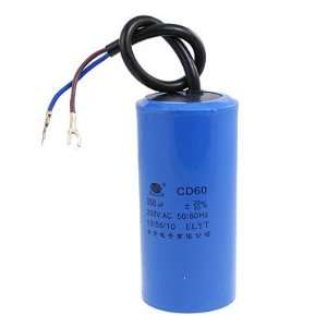 Wire 250VAC 350uF Capacitor CD60 for Motor Start: Home Improvement