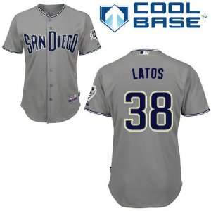 Mat Latos San Diego Padres Authentic Road Cool Base Jersey