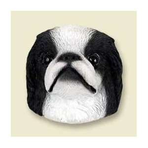 Japanese Chin Dog Magnet   Black & White  Kitchen & Dining