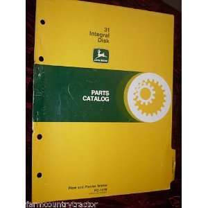 John Deere 31 Integral Disk OEM Parts Manual John Deere Books