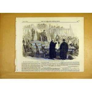 Earl Elgin Royal Assent Canadian Legislature Print 1855