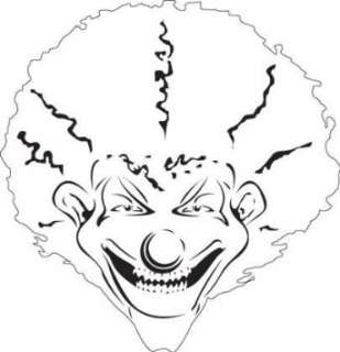 KLOWN 2 Reduced CLOWN FACE AIRBRUSH STENCIL TEMPLATE: Home & Kitchen