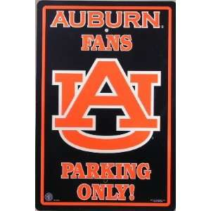 Auburn University Tigers Fans Parking Only Sign Licensed