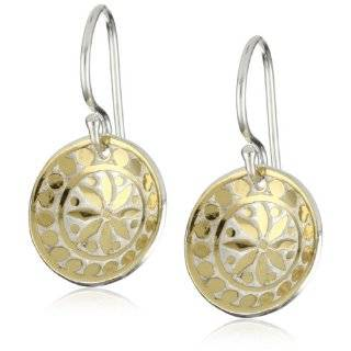 Anna Beck Designs Gili Mini Rose Quartz Disk Earrings