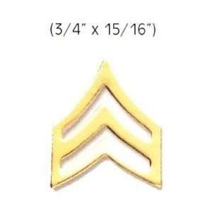 SERGEANT Police Fire EMS Army Collar Brass Pins Insignia Badge Emblem
