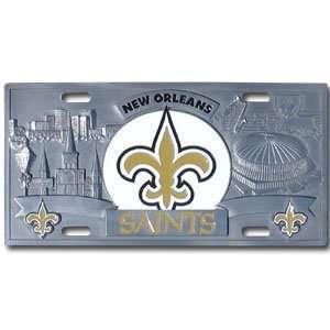New Orleans Saints NFL 3D License Plate