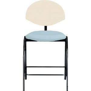 Froggy Wood Back 4 Post Counter Stool with Black Frame