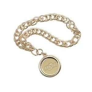 Oklahoma State   Charm Bracelet   Gold