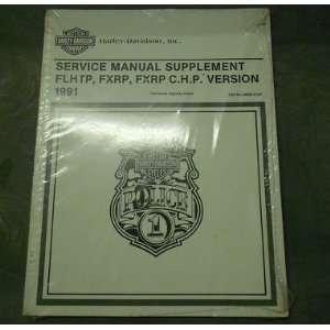 1991 Harley Davidson FLHTP FXRP FXRP CHP Service Manual