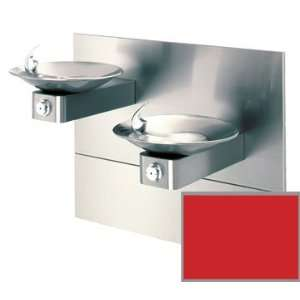 Haws 1011MS RED Red Hi Lo Barrier Free, Wall Mounted, Dual Drinking