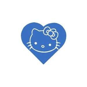 Hello Kitty Sticker Heart White Sticker Decal