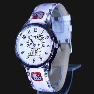 Hello Kitty White Wrist Watch + Promo Hello Kitty Charm