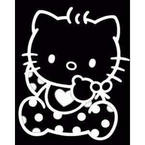 HELLO KITTY BABY  6 WHITE   Vinyl Decal Sticker   NOTEBOOK, LAPTOP