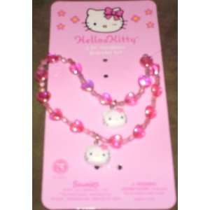 Hello Kitty Hearts Necklace and Bracelet Set Toys & Games