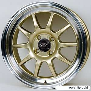 GT3 Royal Lip Gold (15x7.0 +40 4x100)    Set of 4 Wheels Automotive
